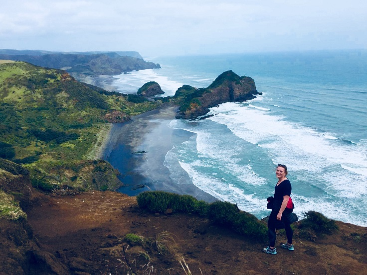 rugged coastline and sea