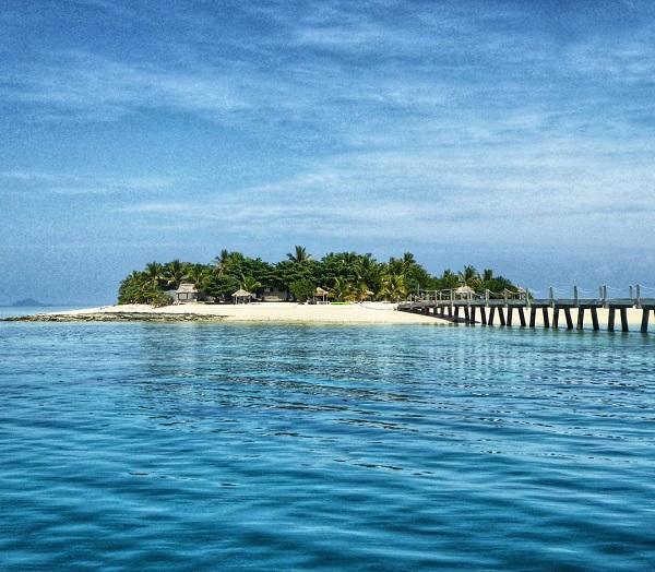 Tivua island in Fiji