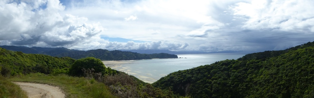 View over New Zealand abel tasman national park across a bay
